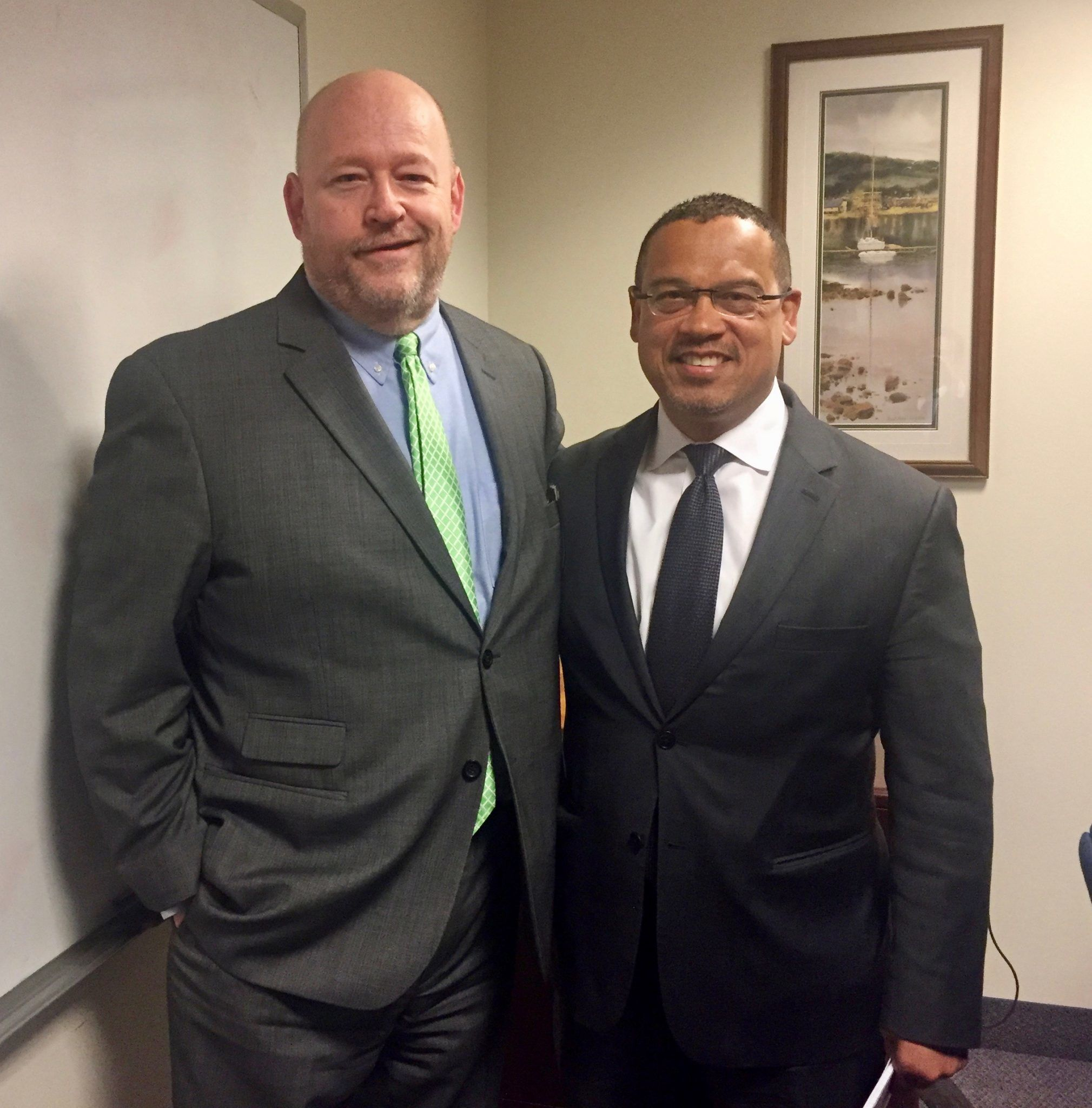 Pete Barry with Attorney General Keith Ellison